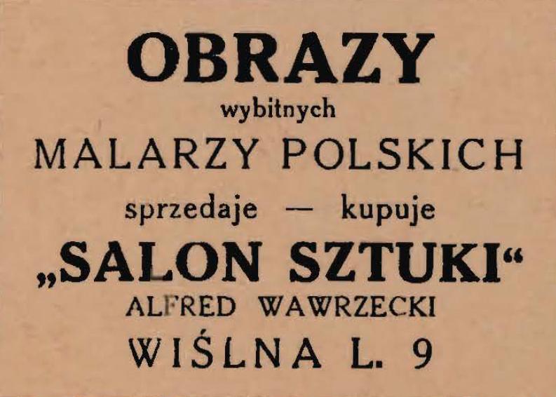 Ogłoszenie firmowe, źródło: Przewodnik teatralny na sezon 1946/47, Kraków