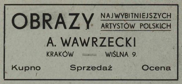 Ogłoszenie firmowe, źródło: Program Teatru Starego na rok 1946