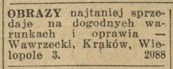 Ogłoszenie prasowe, źródło: Ilustrowany Kuryer Codzienny, 1933, nr 275 (4 X)