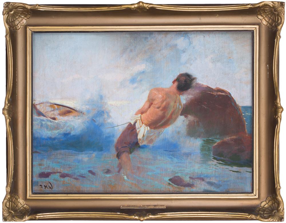 Obraz Feliksa Michała Wygrzywalskiego, źródło: Salon Dzieł Sztuki Connaisseur